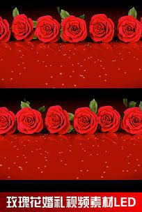 玫瑰花婚礼视频素材LED