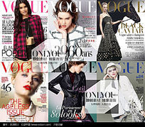 6款 淘宝女装杂志封面海报psd设计素材下载
