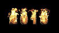 大气羊年2015火焰字视频