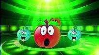 动感卡通小苹果LED视频背景