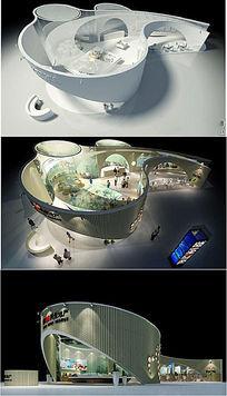 房地产展厅3d模型含灯光贴图