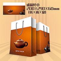 茶艺茶馆手提袋PSD