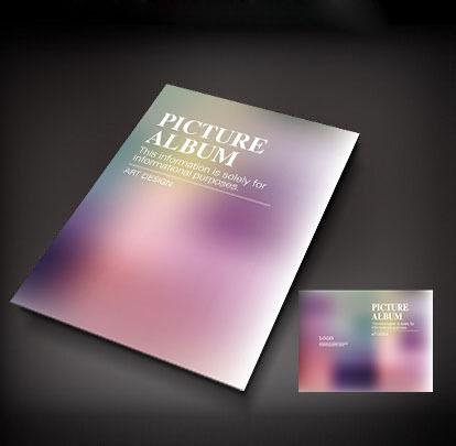 淡紫色唯美封面设计