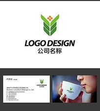 稻穗LOGO标志设计 AI