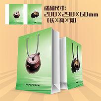 绿茶手提袋设计PSD