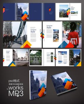 旅游画册版式 PSD