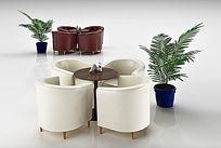 8款 椅子桌子组合3D模型max设计下载