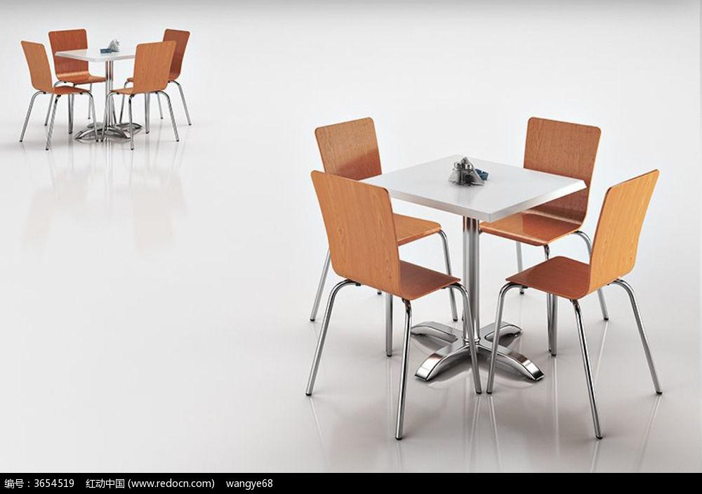 休闲椅子桌子组合3D模型_3D模型\/3D素材图片