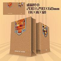 中国风茶文化茶具手提袋PSD