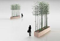 9款 柱形植物盆栽3D模型+贴图max设计下载