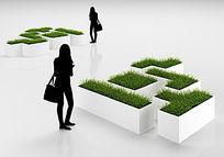 室内植物盆栽3D模型+贴图 max