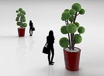 室内植物盆栽3D模型