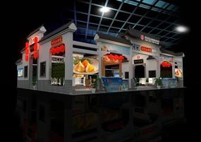 食品展台3DMAX模型