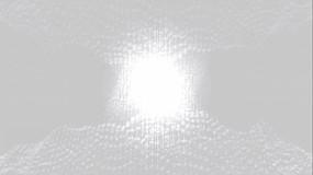 白色不规则粒子卷曲闪烁跳动视频