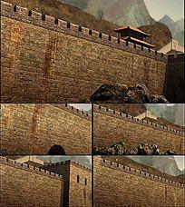 长城游戏场景视频素材