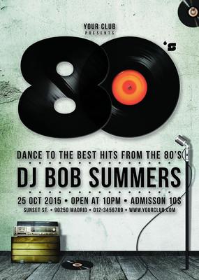 创意酒吧DJ音乐海报