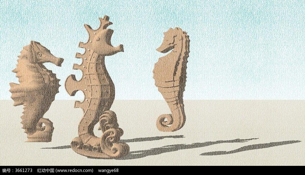 古代人物雕像3d模型