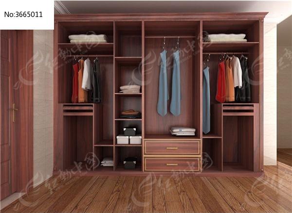 整体衣柜3d模型  衣柜图片