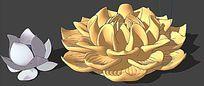 莲花景观SU模型