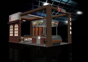 食品展台3d模型+贴图灯光