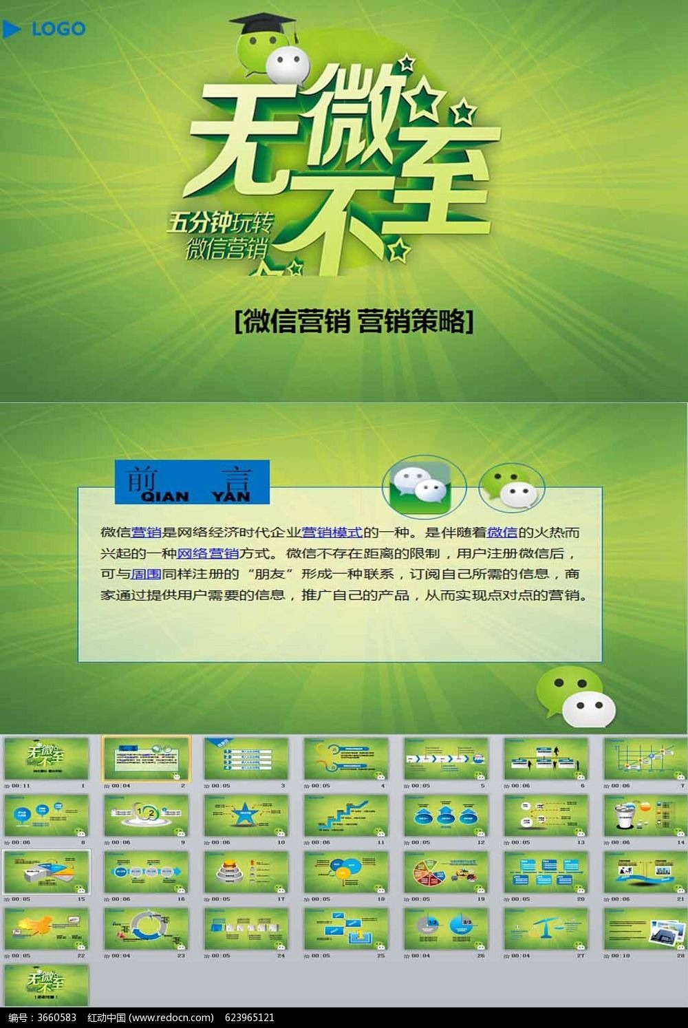微信营销方案ppt模板_ppt模板\/PPT背景图片图