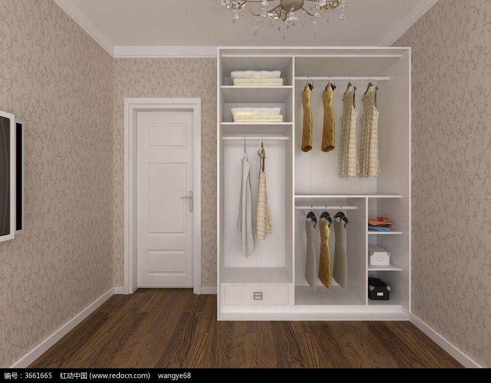 室内设计手绘衣柜