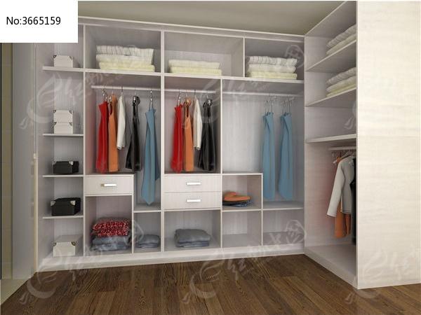 整体衣帽间衣柜3d模型+贴图max设计下载