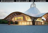经典室外展览中心3d模型