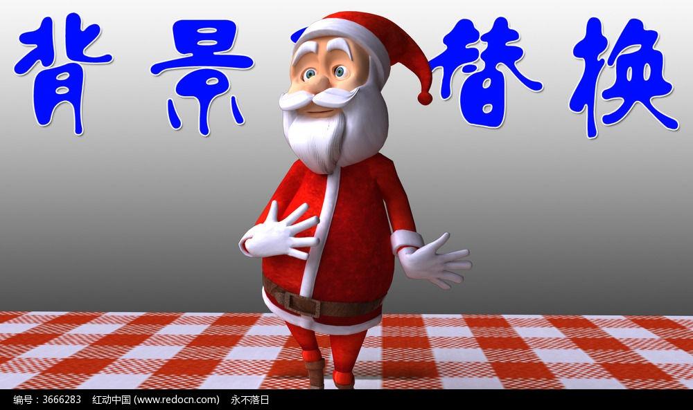 卡通圣诞老人跳舞视频素材