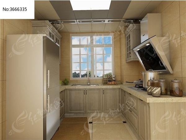 欧式实木橱柜3d模型+贴图图片