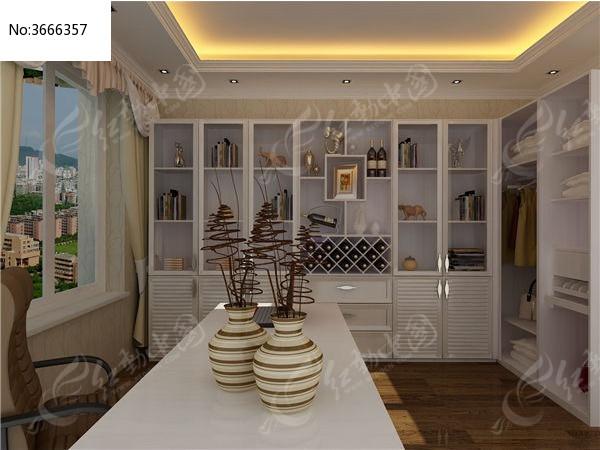 欧式装饰柜衣柜3d模型+贴图