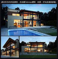 12款 别墅3d模型max下载