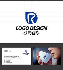 R字母LOGO标志 AI