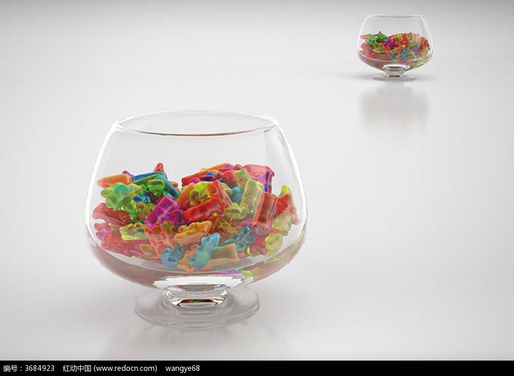透明玻璃杯3d模型 材质贴图