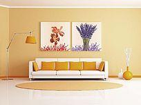 现代时尚花卉装饰画