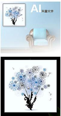 抽象花朵装饰画