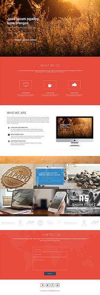 企业个人博客通用PSD网页模板