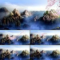 梦幻舞台LED背景崂山飘花瓣视频背景