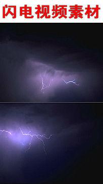 电闪雷鸣视频素材下载