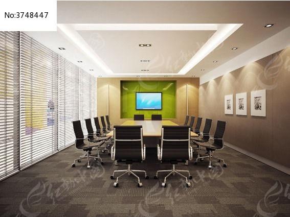 公司会议室3d模型