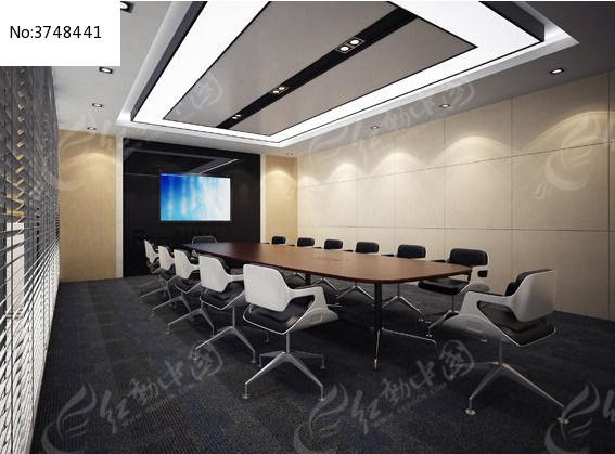 会议室3D模型空间表现