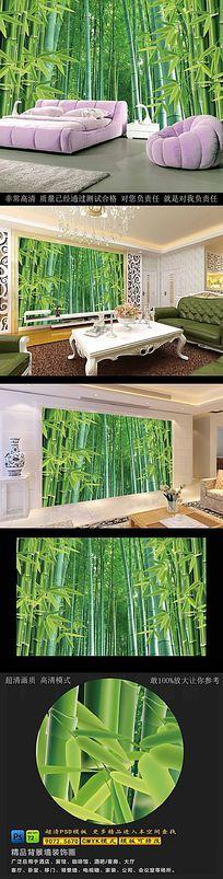 高清竹林风景背景墙