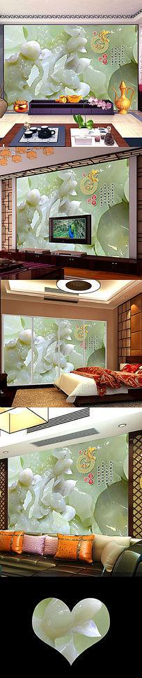 家和万事兴中国风电视背景墙装饰画