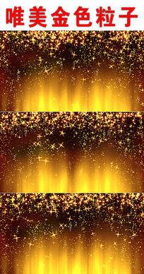 金色粒子动态led背景视频