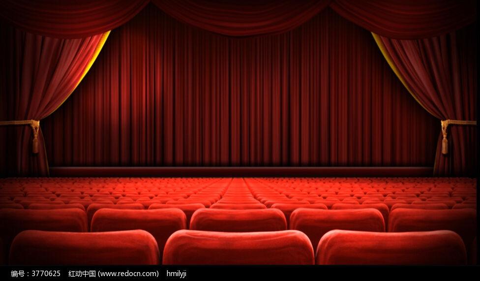 视频_空旷的红色剧场视频背景