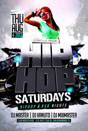 DJ创意HIPHOP明星嘉宾海报