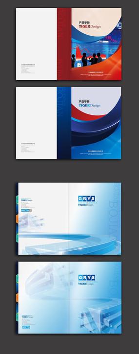 科技画册封面模板 PSD