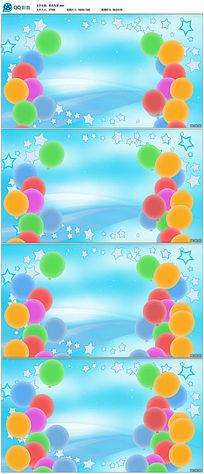 彩色气球节日背景视频