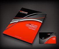红色广告公司宣传册封面