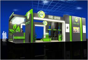 生物科技茶博会展台3d模型